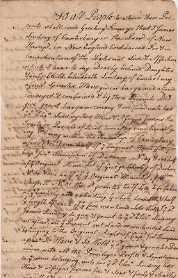 RARE ANTIQUE 1764 Court document Canterbury & Durham New Hampshire.New England