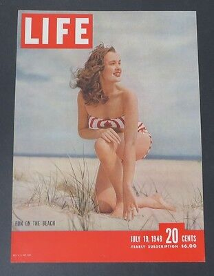 Original Life Magazine COVER ONLY Fun on the Beach July 19 1948