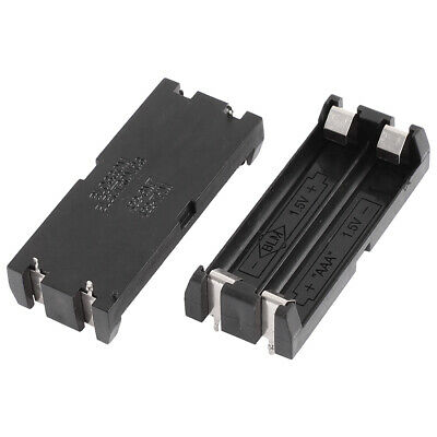 Coque plastique 2 x 1,5 V AAA Boîte Support 4 broches Contact 2pcs