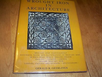 WROUGHT IRON IN ARCHITECTURE ANTIQUE ART DESIGNS Antiques Craftsman Fixture Book
