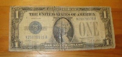 Usa 1928 $1 Silver Certificate Funny Back Note Vg  /   8976A