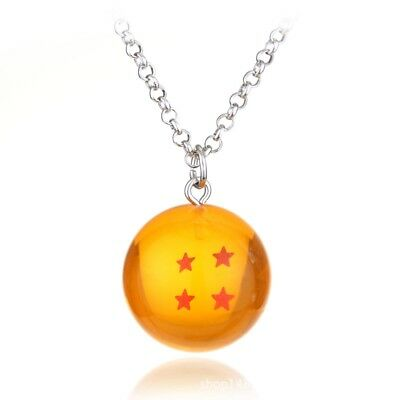 Necklace Dragon Ball Z Cosplay Crystal Ball DBZ Pendant 4 Star Accessories 1PC