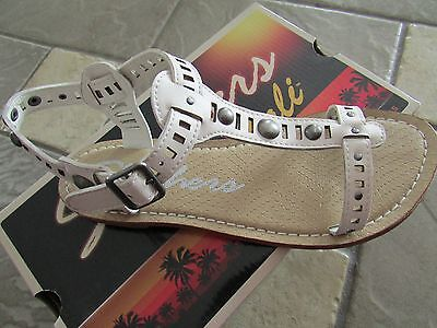 New Skechers Barefoot White Sandals Womens 10 Strappy Flats Free Ship