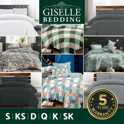 Giselle Bedding Quilt Cover Set Queen Duvet Doona Sets King Size Classic Hotel