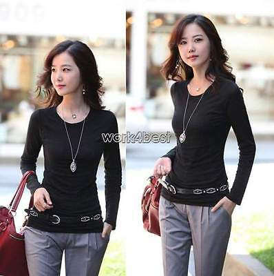 Ladies One Size Women Winter Warm Thermal T Shirt Warm Long Sleeve Top