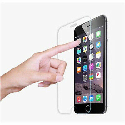 For iPhone X 6 7 8 Screen Protector 9H HD Tempered Glass Film Skin Case