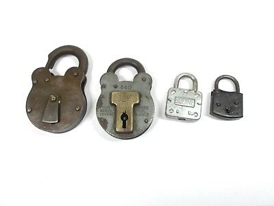 Vintage  padlocks NO keys antique padlocks verios ages and sizes for collector