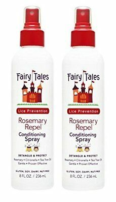 FAIRY TALES Rosemary Repel Lice Prevention Leave-In Condition Spray 8 Oz, Qty 2