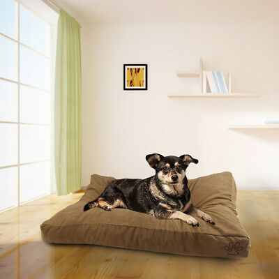Soft Mat Durable Washable Pet Dog Bed Khaki-Suede Mat COVER ONLY Do It Yourself