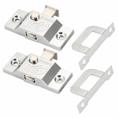 13mm Tongue Bolt Latch Door Sliding Window Lock w Right Angle Plate 2pcs