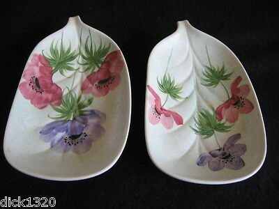 PAIR of VINTAGE E RADFORD HAND-PAINTED HOR'S DEUVRES DISH JN PATTERN c.1950's EX