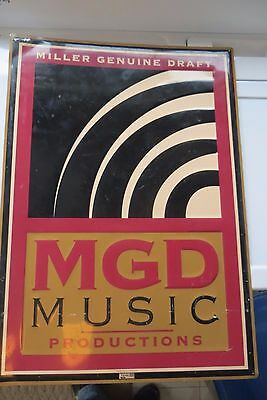 Miller Genuine Draft,mgd,music Productions Advertising Beer 1999 Scarce Sign