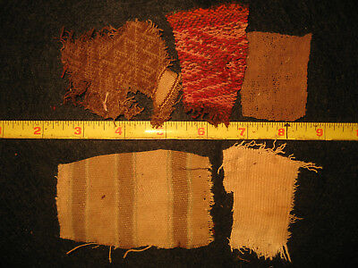 Authentic Pre Columbian Inca Chancay Fabric Textiles, 500 Year Old Cloth, #2-F