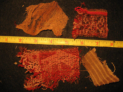 Authentic Pre Columbian Inca Chancay Fabric Textiles, 500 Year Old Cloth, #2-H