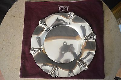 Vintage - Wm Rogers-  Ornate Silver Plate Scalloped - Tray 421