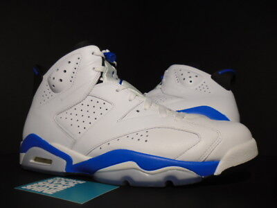 07b3b5e00c39 2014 Nike Air Jordan VI 6 Retro WHITE SPORT BLUE BLACK ROYAL 384664-107 11.5