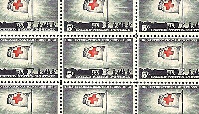 1963 - INTERNATIONAL RED CROSS - #1239 Mint -MNH- Sheet of 50 Postage Stamps