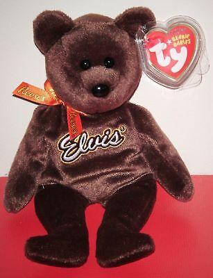Ty Beanie Baby ~ COCO PRESLEY the Elvis Presley Brown Bear ~MINT with MINT TAGS