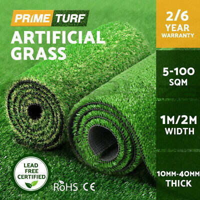 Primeturf 5-100SQM Synthetic Grass Artificial Turf Plastic Fake Plant Lawn