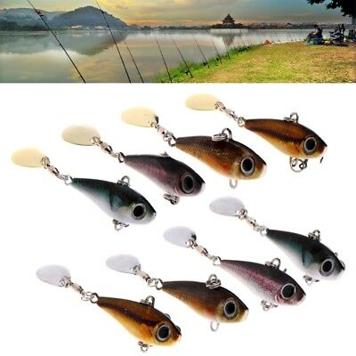 3D Eye Bright Fish Jig Fishing Lure Artificial Lead Metal Plate Spoon Sequines