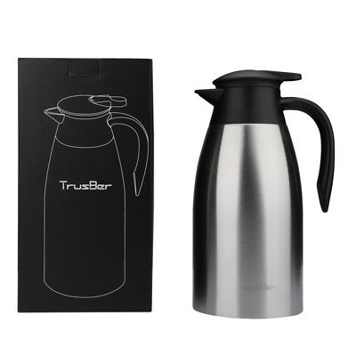 Stainless Steel Thermos Carafe Coffee Pot Vacuum Flask Kettle 68 oz/2 liter Jug