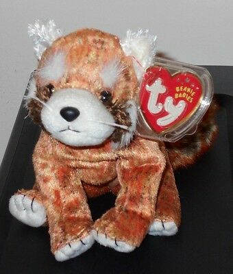 ST* Ty Beanie Baby ~ RUSTY  the Red Panda ~ MINT with MINT TAGS (STICKER)