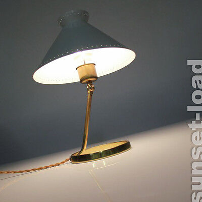 Table Lamp 50s Mid Century Italy polished brass old vintage lamp Austrian Era