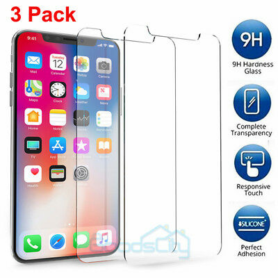 Premium Screen Protector Real Tempered Glass Film for iPhone 8 Plus & X 7 6