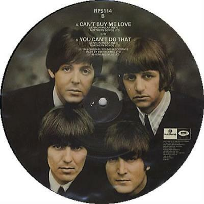 "Beatles Can't Buy Me Love UK 7"" vinyl picture disc single RP5114 PARLOPHONE"