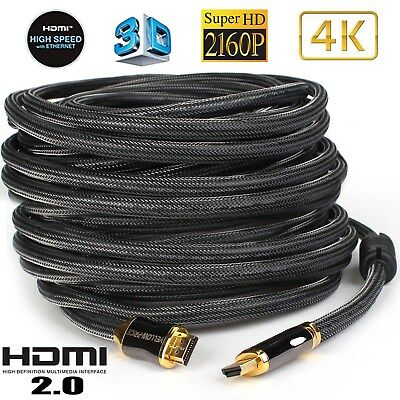 Yellowknife Genuine HDMI 2.0 Ready 50FT 4K HDMI Cable-50 Feet/50 Foot