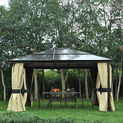 14'x12' Deluxe Hard Top Waterproof Patio Gazebo Canopy Outdoor Garden Heavy-Duty