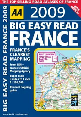 AA Big Easy Read France (AA Atlases and Maps) by AA Publishing Spiral bound The