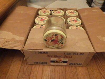 12 VINTAGE Refrigerator Kitchenware Storage Jars Vegetable Fruit Orig. BOX 4.5""