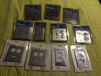 Vintage Hall Mack Chrome Switch Plates  Nutone New In Packages Lot Of 11