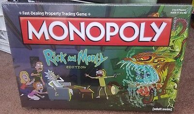MONOPOLY: RICK and MORTY EDITION Hasbro USAopoly, 2016 NEW/SEALED