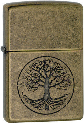 Zippo Tree of Life Lighter Antique Brass