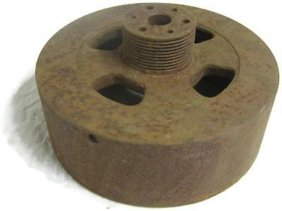 Old Primitive 6.75 Inch Pulley Wheel Gear For Steampunk Industrial Repurpose Art