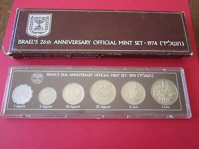 1974 Coins of Israel Official  Mint 6-Coin Set Uncirculated