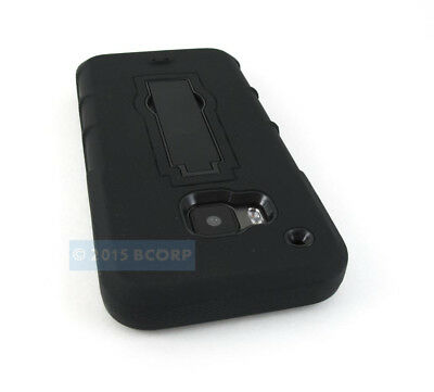 For Htc One M9 2015 Full Black V2 Impact Shock Proof Phone Case Stand Cover