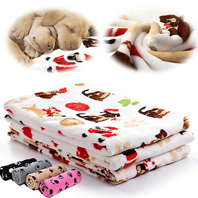 Soft Warm Pet Flannel Blanket Bed Mat Pad Cover Cushion For Dog Cat Puppy Animal