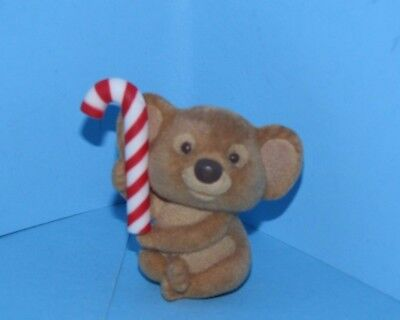 Hallmark Merry Miniature Flocked Koala with Candy Cane