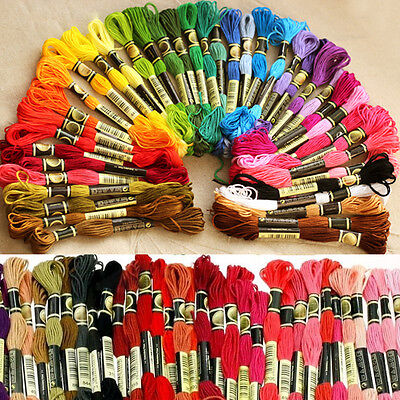 45Pc/lot Cotton Cross Floss Stitch Thread Embroidery Sewing Skeins 45 Colors Hot