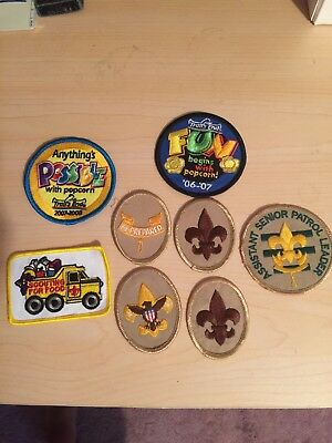 MIXED LOT OF  Boy Scout PATCHES  RANK  QUALITY UNIT  ALL MINT  8 PATCHES