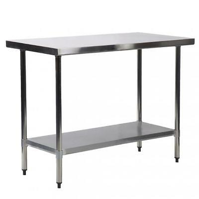"30""x48"" Stainless Steel Kitchen Work Table Commercial Kitchen Restaurant table"