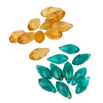 20pcs Faceted Teardrop Glass Beads Loose DIY Jewelry Making Crafts Supplies