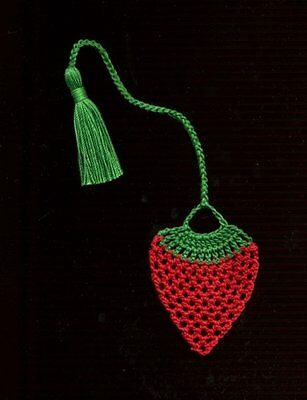 Handmade crochet bookmark STRAWBERRY bookmarks