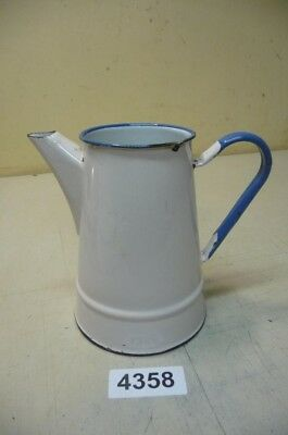 4358. Alte Emaille Email Kanne Old enamel can