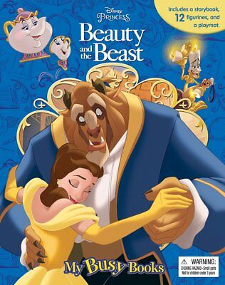 NEW Disney Princess Beauty and the Beast My Busy Book & Figurines - Board Book
