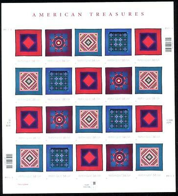 2001 - AMISH QUILTS - #3524 Full Mint -MNH- Sheet of 20 Postage Stamps