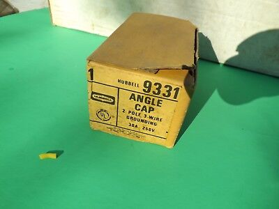 1 New Old Stock Hubbell Angle Plug 9331 2 Pole 3 Wire 30a 250v Free Ship